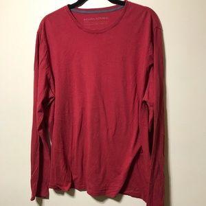 Banana Republic red long sleeve shirt